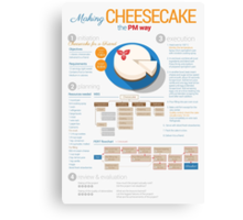 Project manager makes a cheesecake! Vertical poster Canvas Print