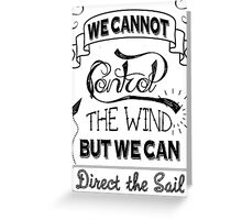 Control the Wind Greeting Card