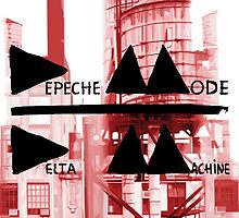 Depeche Mode : Delta Machine Paint cover - water tower 2 by Luc Lambert