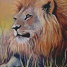 Lion Sitting in Grass by Cherie Roe Dirksen