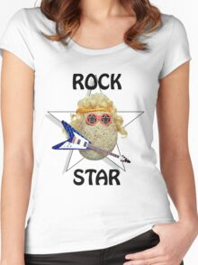 Glam Rock Star Women's Fitted Scoop T-Shirt