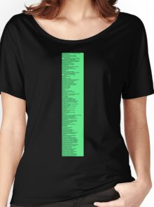 Library Sign - Dewey Decimal System by Tens -  Neon Green Women's Relaxed Fit T-Shirt