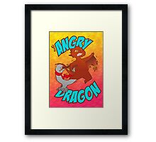 Angry Dragon Framed Print