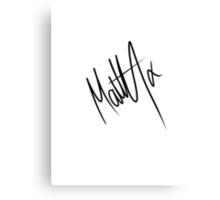Matty Healy Autograph Canvas Print