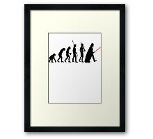 Dark side of Evolution Framed Print