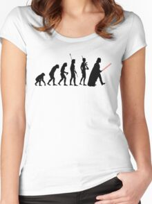 Dark side of Evolution Women's Fitted Scoop T-Shirt