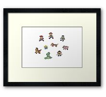 Toy Story Plushies Framed Print