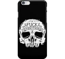 FUCK EVERYTHING WHITE iPhone Case/Skin