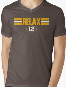 Relax Green Bay Mens V-Neck T-Shirt