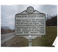 MASON-DIXON LINE Poster