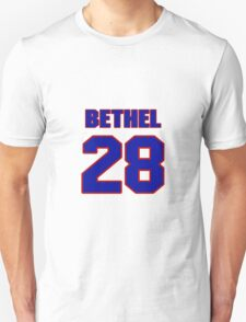 National football player Justin Bethel jersey 28 T-Shirt