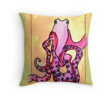 Ozzie The Octopus Throw Pillow