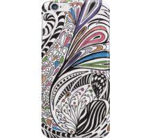 zentangle petals iPhone Case/Skin