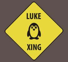 Luke XING (Crossing Sign) -Penguin T-Shirt