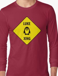 Luke XING (Crossing Sign) -Penguin Long Sleeve T-Shirt