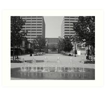 Market Square Knoxville Tennessee Art Print