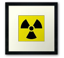 Ionizing Radiation sign - U+2622 Framed Print