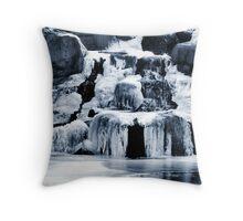 Frozen Water Throw Pillow