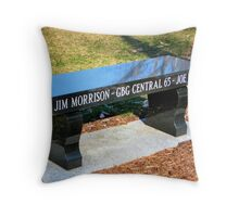 Vietnam Memorial Bench Throw Pillow