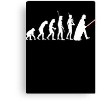 The Dark Side Of Evolution - White  Canvas Print