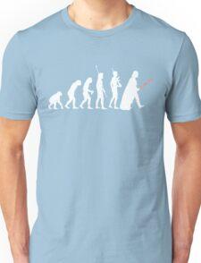 The Dark Side Of Evolution - White  Unisex T-Shirt