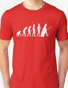 The Dark Side Of Evolution - White  T-Shirt
