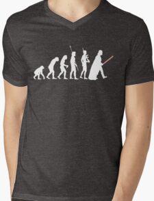 The Dark Side Of Evolution - White  Mens V-Neck T-Shirt