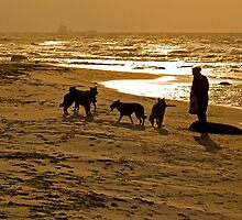 The Man with the Dogs by Kofoed