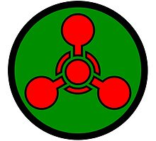 Chemical weapon symbol. Hazard sign. by 2monthsoff
