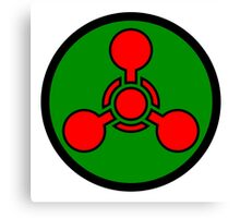 Chemical weapon symbol. Hazard sign. Canvas Print