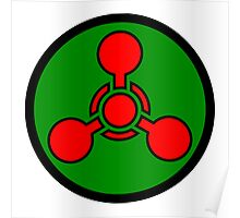Chemical weapon symbol. Hazard sign. Poster