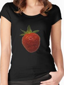 Strawberry T Women's Fitted Scoop T-Shirt