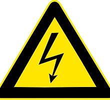 Warning sign. Lightning bolt.  by 2monthsoff