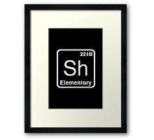 The Atomic Symbol for Detection  Framed Print