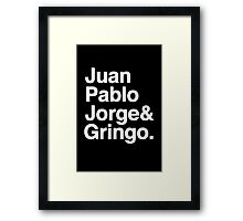 El Fabo Quatro ...for dark t-shirts! Framed Print
