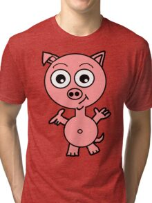Howie the Pig Tri-blend T-Shirt