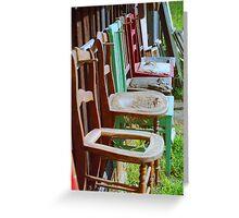 Chair repair Greeting Card