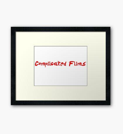 Complicated Films Script Framed Print