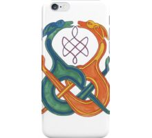 Entwined Celtic Knotwork Dogs iPhone Case/Skin