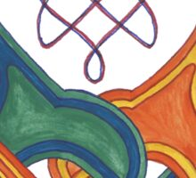 Entwined Celtic Knotwork Dogs Sticker