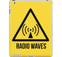 Radio waves hazard sign. Danger. Caution symbol. iPad Case/Skin