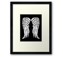 Daryl Dixon Angel Wings - The Walking Dead Framed Print