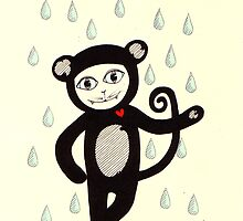 I'd dance in the rain in a monkey suit just to see you smile by Jo Conlon