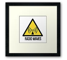 Radio waves. Framed Print