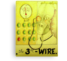 the 3rd wire Canvas Print