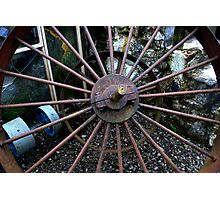 Oul Pulley Wheels! Photographic Print