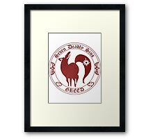 Fox, The Greed Framed Print