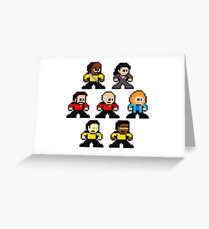 8-bit ST:TNG Greeting Card