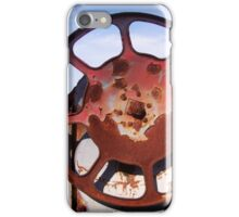 Rusty Railroad Wheel iPhone Case/Skin