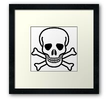Old Skull music Framed Print